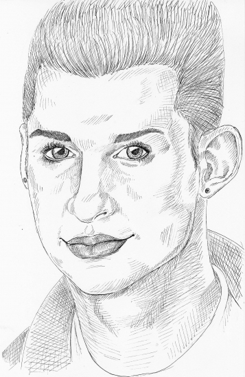 Dave Gahan by synthesiser